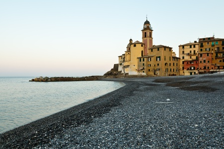 Virgin Mary Church in Camogli at Dawn, Italy photo