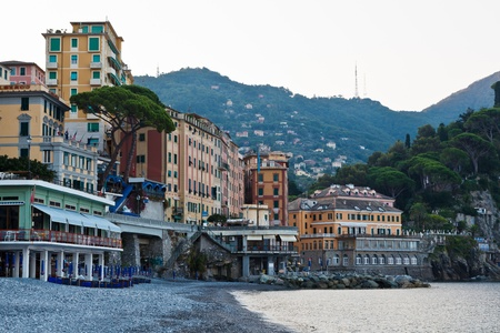 Pebble Beach: Morning at the Pebble Beach in Camogli, Italy