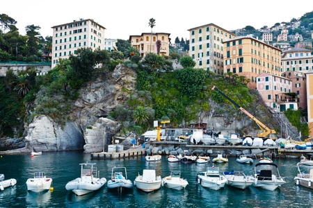 Boats in the Bay of Camogly in Italy Stock Photo - 12761651