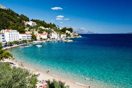Deep Blue Sea with Transparent Water and Beautiful Beach in Croatia Stock Photo - 12929788