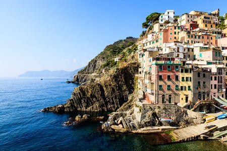 Harbor in the Village of Riomaggiore in Cinque Terre, Italy Stock Photo - 13272011
