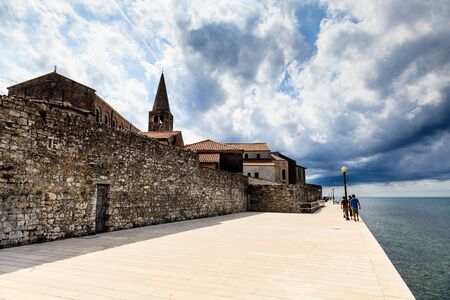 Storm Approaching Euphrasius Basilica in Porec, Croatia photo