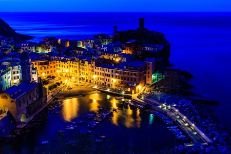 vernazza: Medieval Village of Vernazza in the Morning, Cinque Terre