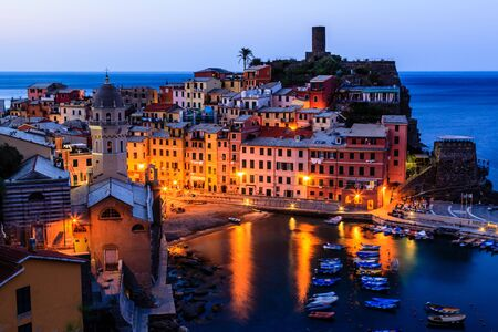 Medieval Village of Vernazza in the Morning, Cinque Terre photo