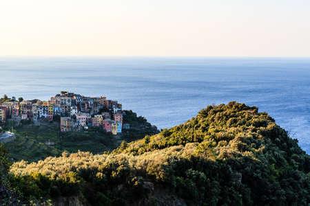 The Medieval Village of Corniglia at Morning, Cinque Terre, Italy photo