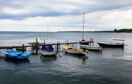 Fishing Boats in Porec, Croatia photo