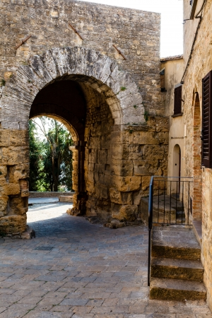 etruscan: Ancient Etruscan Gate of Volterra in Italy