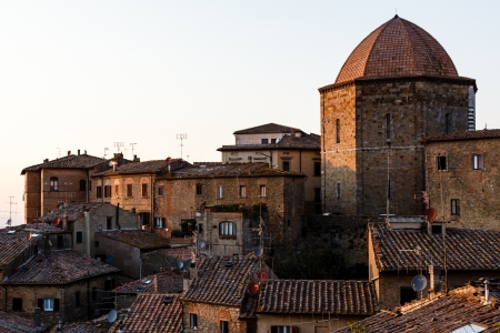 volterra: Dome and Houses in the Small Town of Volterra in Tuscany, Italy