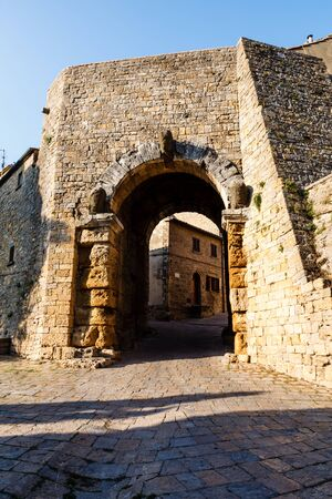 volterra: Ancient Etruscan Gate of Volterra in Italy