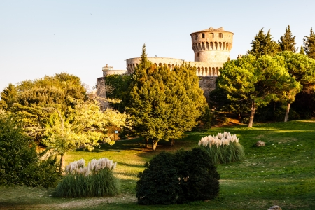 volterra: Medici Castle in the Park in Volterra, Tuscany, Italy