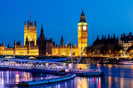 Big Ben and House of Parliament at Night, London, United Kingdom