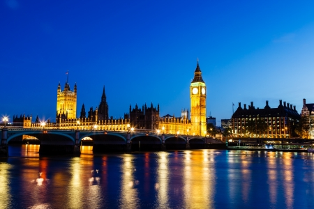 Big Ben and House of Parliament at Night, London, United Kingdom Stock Photo - 14068327