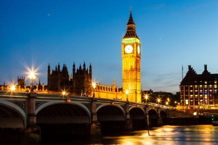ben: Big Ben and House of Parliament at Night, London, United Kingdom