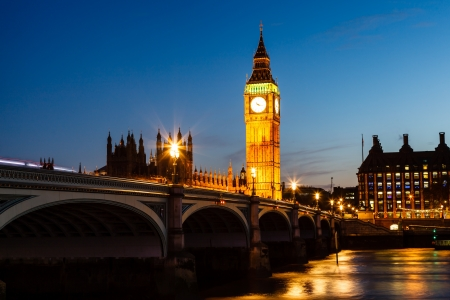 Big Ben and House of Parliament at Night, London, United Kingdom photo