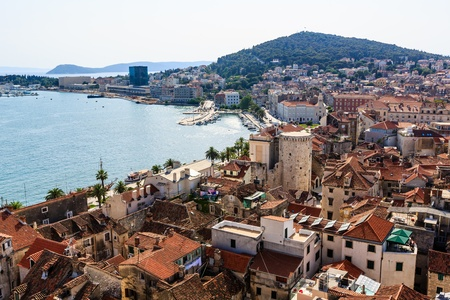 Aerial View on Marjan Hill and Old City of Split, Croatia