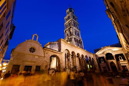 Peristyle and Diocletian Palace in Split in the Evening, Croatia Stock Photo - 14597458