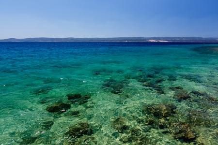 adriatic: Wonderful Adriatic Sea with Deep Blue Water near Split, Croatia