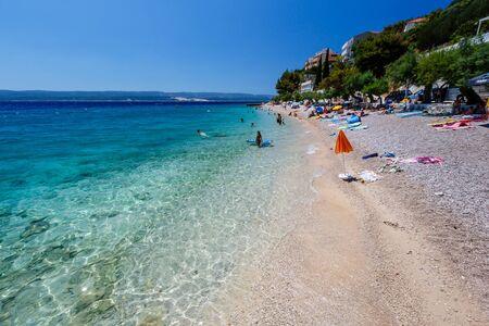adriatic: Deep Blue Sea with Transparent Water and Beautiful Adriatic Beach in Croatia