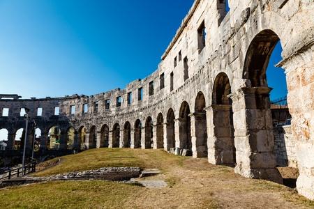 colosseum: Ancient Roman Amphitheater in Pula, Istria, Croatia