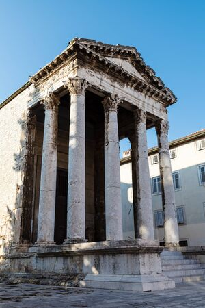 Ancient Roman Temple of Augustus in Pula, Istria, Croatia photo