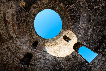 architectural heritage: Under Diocletian Mausoleum Dome in Split, Croatia Stock Photo