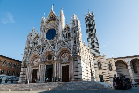 Beautiful Santa Maria Cathedral in Siena, Tuscany, Italy photo