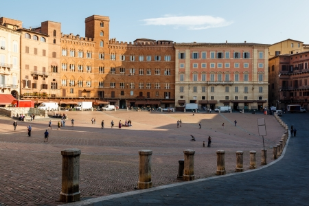 siena: Piazza del Campo, Central Square of Siena, Tuscany, Italy