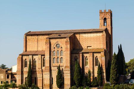 siena: Church of San Domenico in Siena, Tuscany, Italy