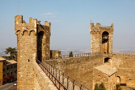 montalcino: Yard in the Castle of Montalcino, Tuscany, Italy