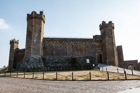 montalcino: Castle of Montalcino, Tuscany, Italy - Famous Medieval Italian Fortress
