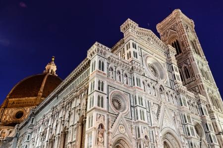 La catedral de Florencia (Duomo - Basilica di Santa Maria del Fiore) por la mañana, Toscana, Italia Foto de archivo - 15652563