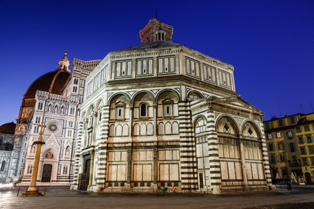Florence Cathedral (Duomo - Basilica di Santa Maria del Fiore) in the Morning, Tuscany, Italy photo