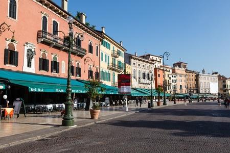 Restaurants and Cafes on Piazza Bra in Verona, Veneto, Italy