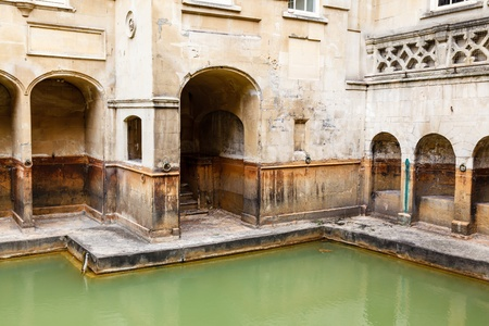 Ancient Roman Baths in the City of Bath, United Kingdom Stock Photo - 16511004