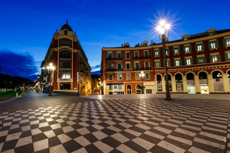 lampost: Place Massena in the Early Morning, Nice, French Riviera, France