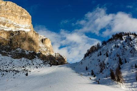 Slope on the Skiing Resort of Colfosco, Alta Badia, Dolomites Alps, Italy Stock Photo - 17731281
