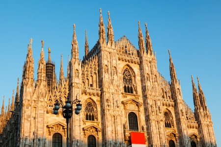 Milan Cathedral (Duomo di Milano) is the Gothic Cathedral Church of Milan, Italy photo