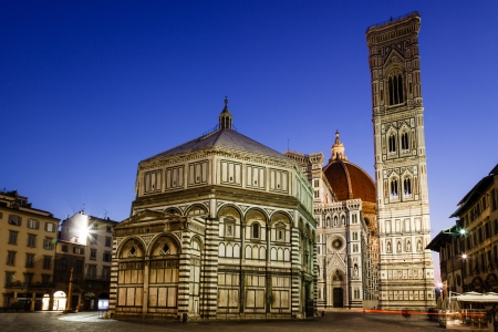 firenze: Florence Cathedral  Duomo - Basilica di Santa Maria del Fiore  in the Morning, Tuscany, Italy Stock Photo