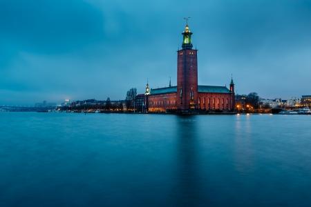 Stockholm Cityhall Located on Kungsholmen Island in the Morning, Sweden Standard-Bild