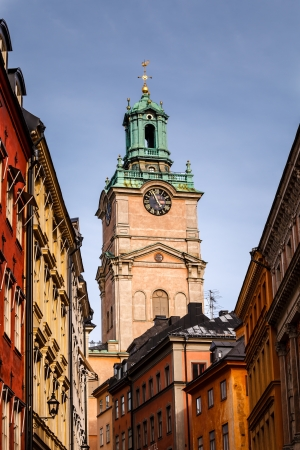 Cathedral of Saint Nicholas (Storkyrkan) Bell Tower, Stockholm, Sweden