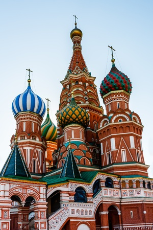 Cathedral of Vasily the Blessed on the Red Square in Moscow, Russia photo