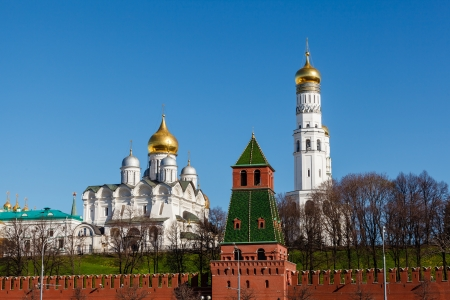 Moscow Kremlin Wall and Ivan the Great Bell Tower, Russia photo