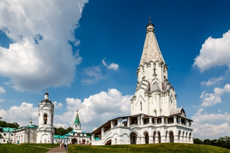 church bells: Church of the Ascension in Kolomenskoye, Moscow, Russia Stock Photo