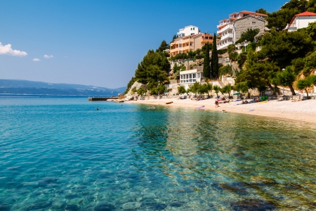 adriatic: Beautiful Adriatic Beach and Lagoon with Turquoise Water near Split, Croatia