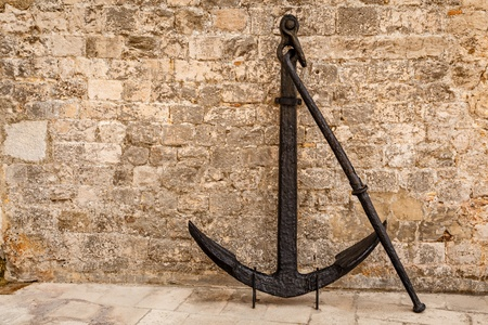 Old Rusted Anchor in Dubrovnik, Dalmaltia, Croatia photo