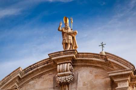 Saint Blaise Church Detail in Dubrovnik, Dalmatia, Croatia photo