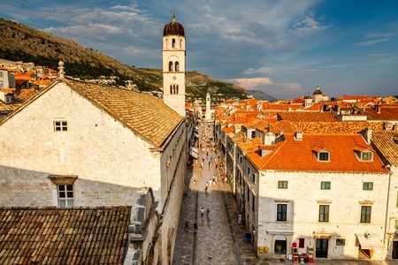 Panoramic View of Dubrovnik from the City Walls, Croatia photo