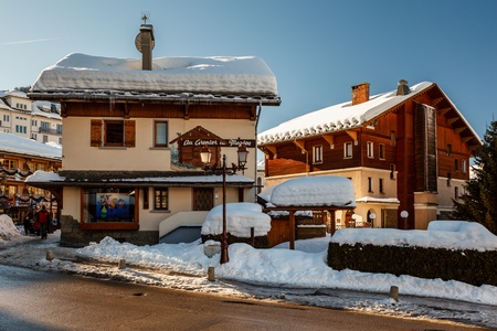 popularity: MEGEVE - JAN 10  Village of Megeve on January 10, 2012 in Megeve, France  Megeve with a population of over 4,000 residents is well-known due its popularity as a ski resort  Editorial