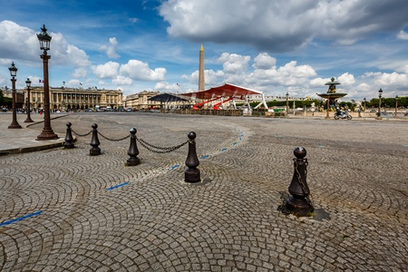 Place de la Concorde on Summer Day in Paris, France photo