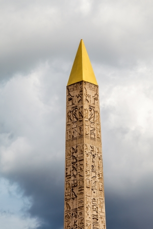 Egyptian Obelisk of Luxor Standing at the Center of the Place de la Concorde in Paris, France photo